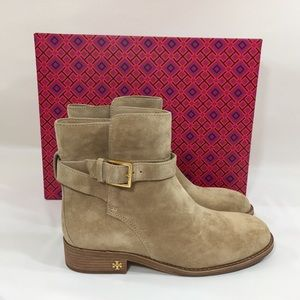 Shoes - Tory Burch Suede Booties Brooke Size 7